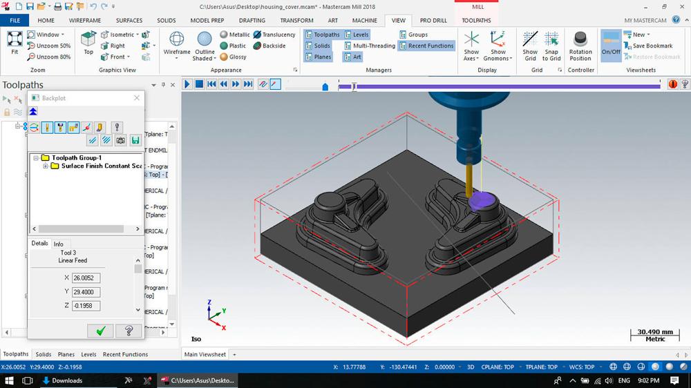 Mastercam Machining Software